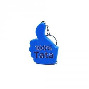 Metrówka z napisem 100% Tata
