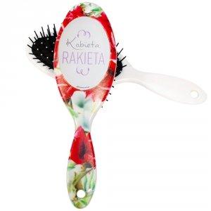 Szczotka do włosów z napisem Kobieta rakieta