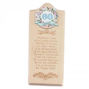 Deska Życzenia urodzinowe 60