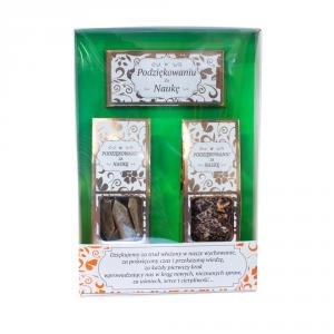 Zestaw prezentowy dla Nauczyciela W Podziękowaniu Za Naukę - czekolada, krówki, herbatka