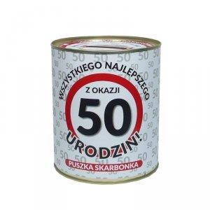 Skarbonka metalowa 50 lat