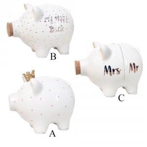 Porcelanowa skarbonka - świnki - 3 wzory