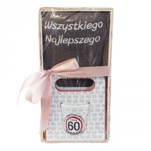 Zestaw prezentowy na 60 urodziny Wszystkiego najlepszego z okazji 60 urodzin
