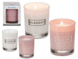 Elegancka świeca zapachowa, 2 rodzaje