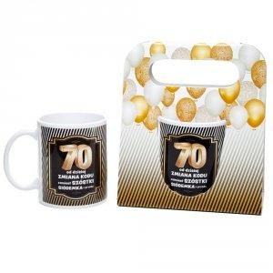 Kubek ceramiczny urodzinowy w ozdobnym opakowaniu 70