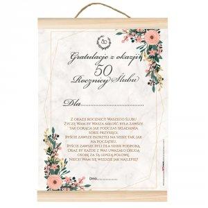 Dyplom gratulacje z okazji 50 rocznicy ślubu.  Z okazji rocznicy ślubu życzę Wam by Wasza miłość była zawsze tak gorąca jak przy składaniu przysięgi...