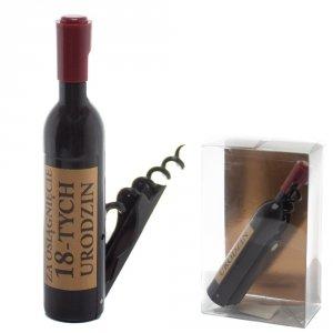 Otwieracz do wina w kształcie butelki, 18-urodziny