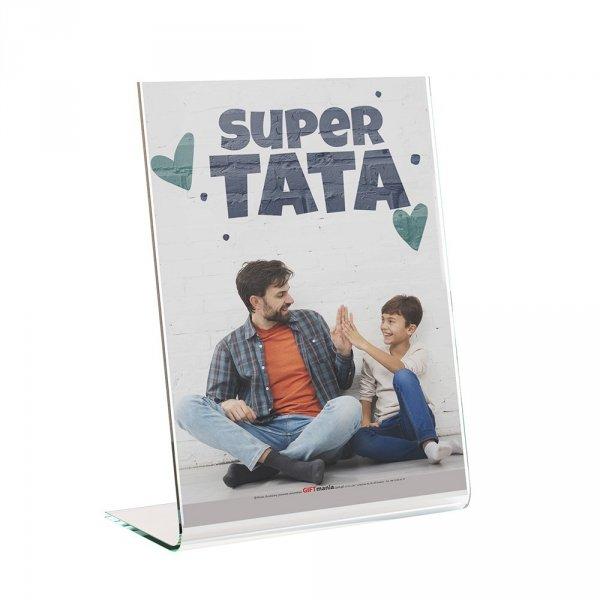 """Ramka plexi """"Super Tata"""" 13x18cm"""