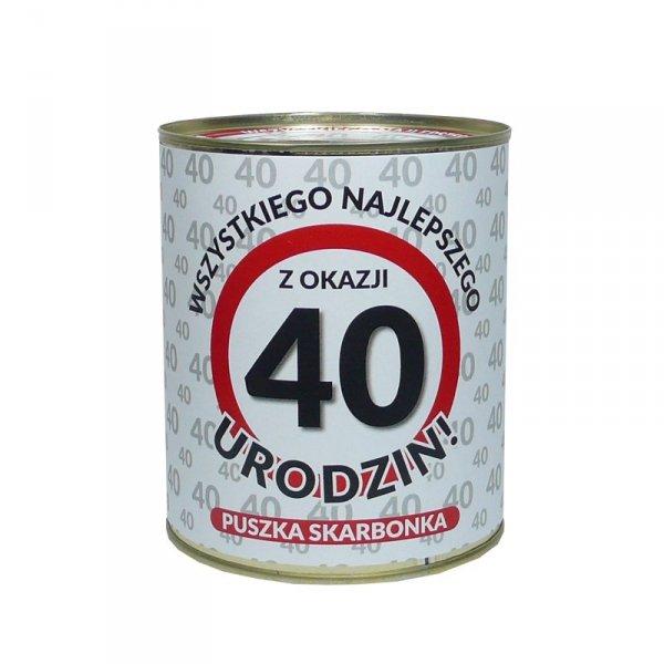 Skarbonka metalowa 40 lat