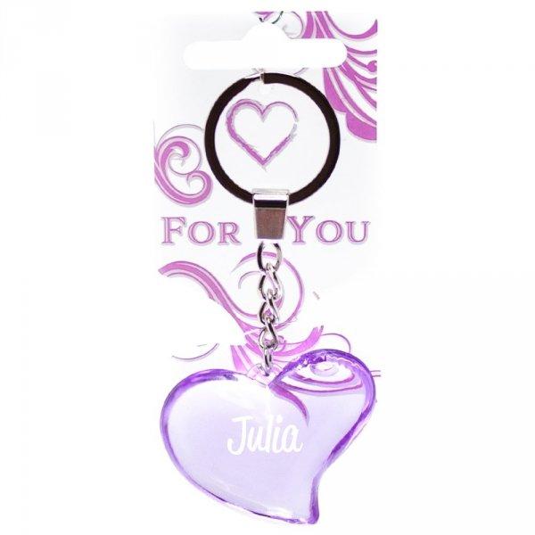 Zawieszka brelok fioletowy Julia