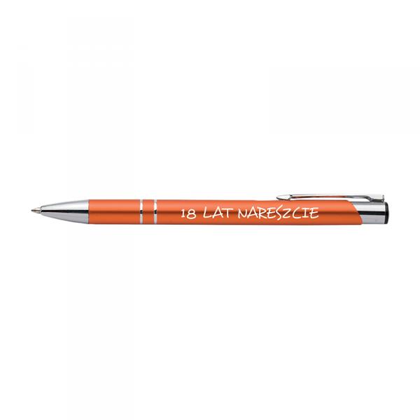 Długopis z nadrukiem '18 lat nareszcie'