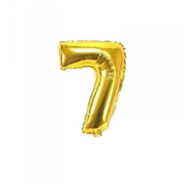 Cyfra dmuchana nr 7, złoty, 40 cm