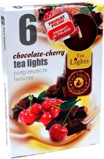 "PODGRZEWACZ 6 SZTUK TEA LIGHT ""Chocolate-Cherry"""