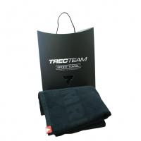 TREC TEAM TOWEL - Ręcznik - TREC 003 - 150 X 75 CM - BLACK